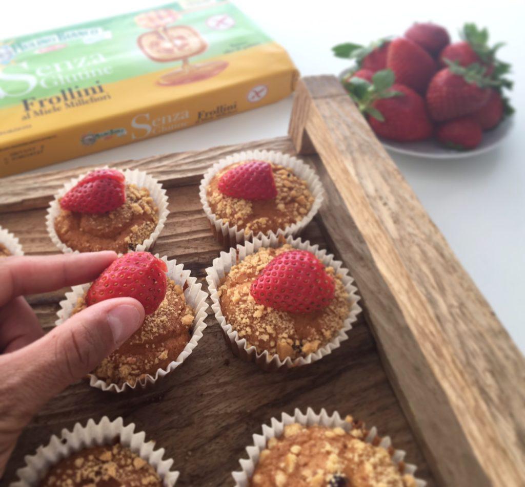 Muffin alle fragole senza glutine