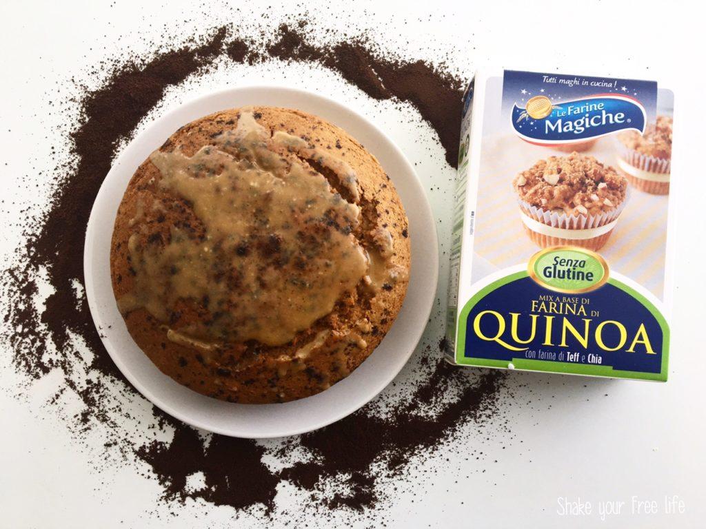 Torta al caffè con farina di quinoa senza glutine