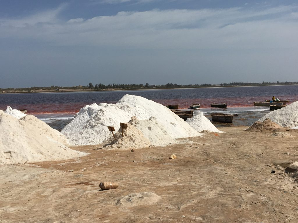 Il lago Retba in Senegal