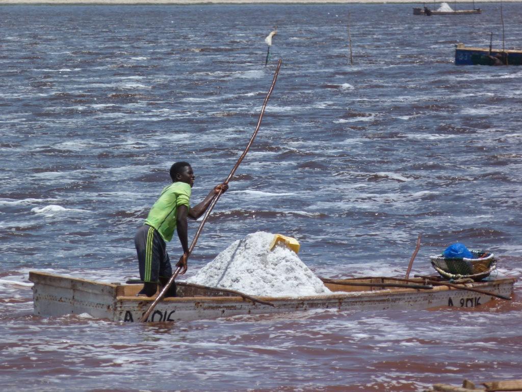 Lago Retba in Senegal