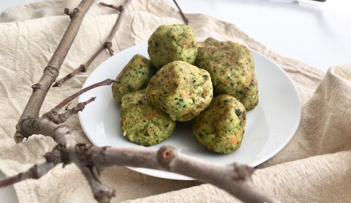 Polpette di spinaci e ceci vegetariane e senza glutine