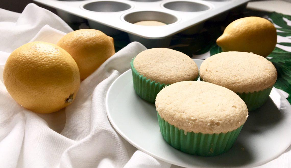 Muffin al limone senza zucchero, vegan e senza glutine