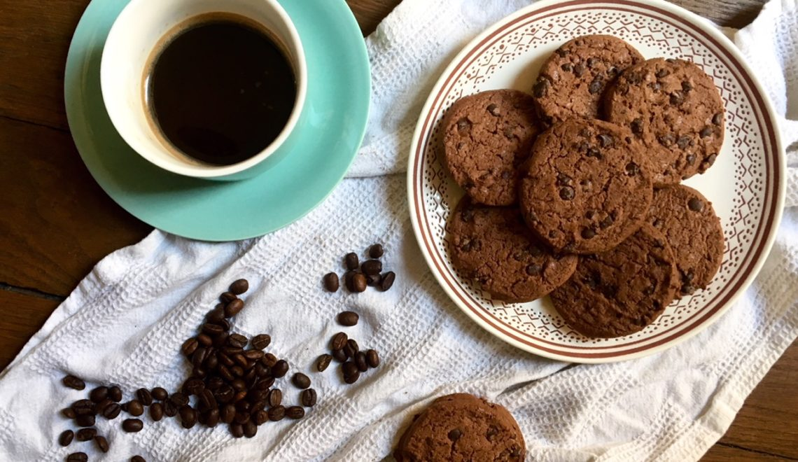Cookies al caffè senza burro e senza glutine