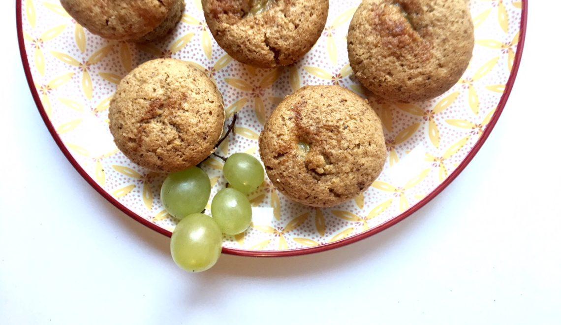 Muffin salati uva e pecorino