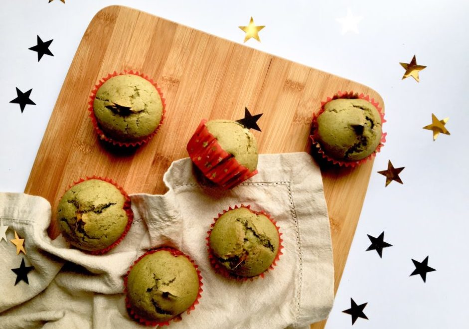 Muffin al the Matcha senza glutine