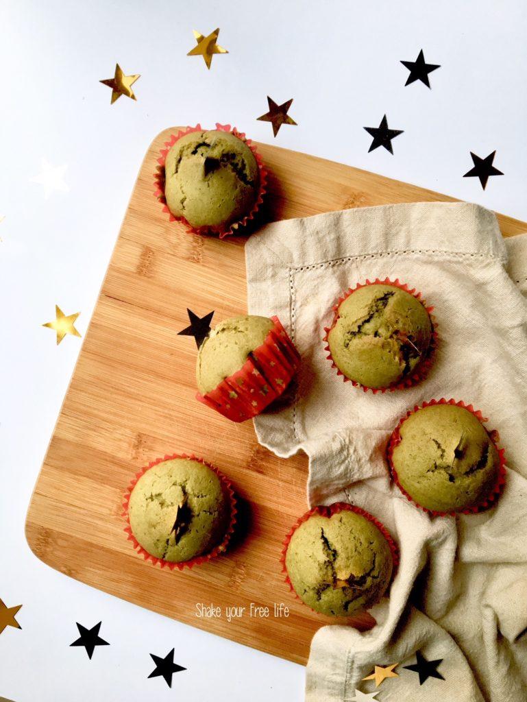 Muffin al the Matcha senza glutine