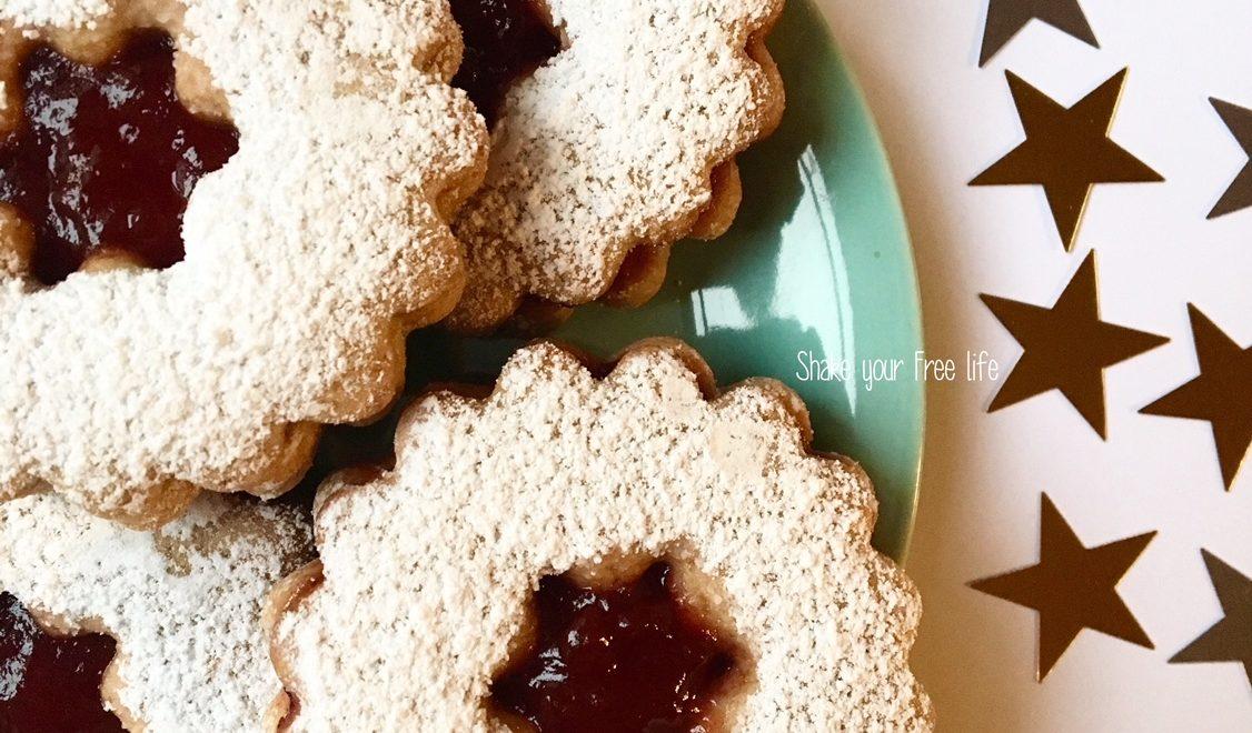 Linzer cookies vegani e senza glutine