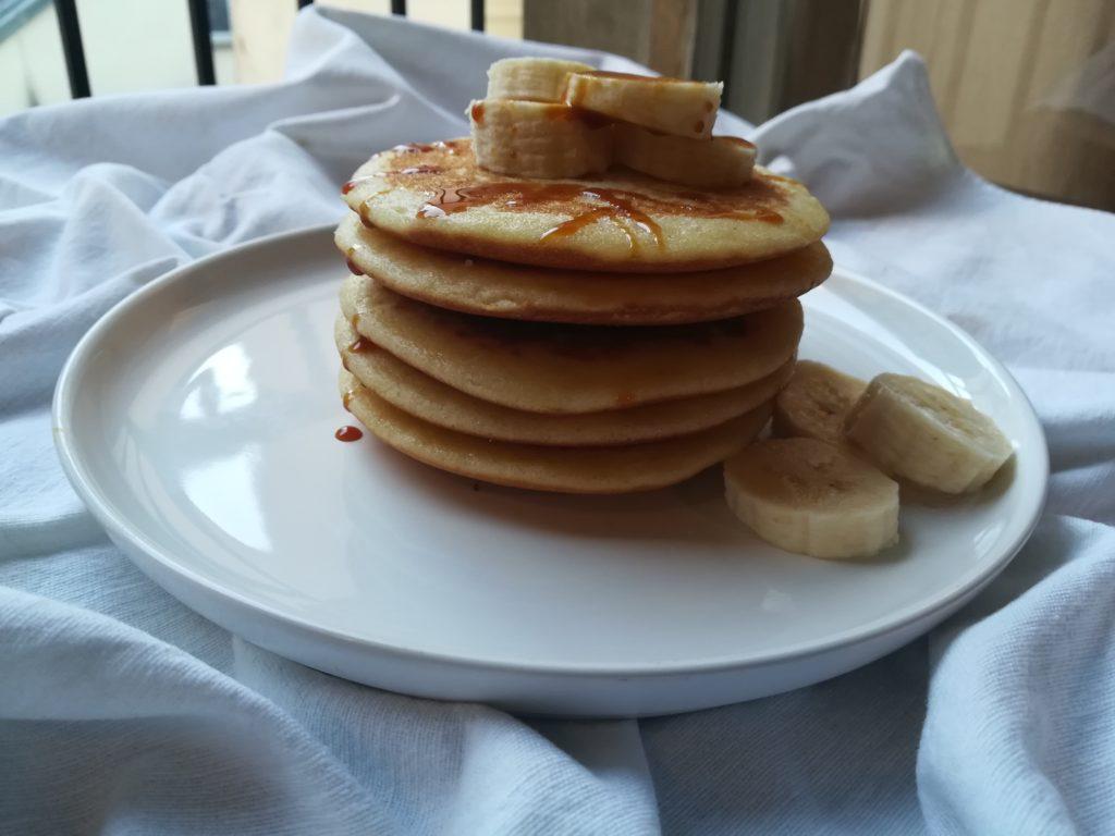Pancake alle spezie senza uova e senza lattosio