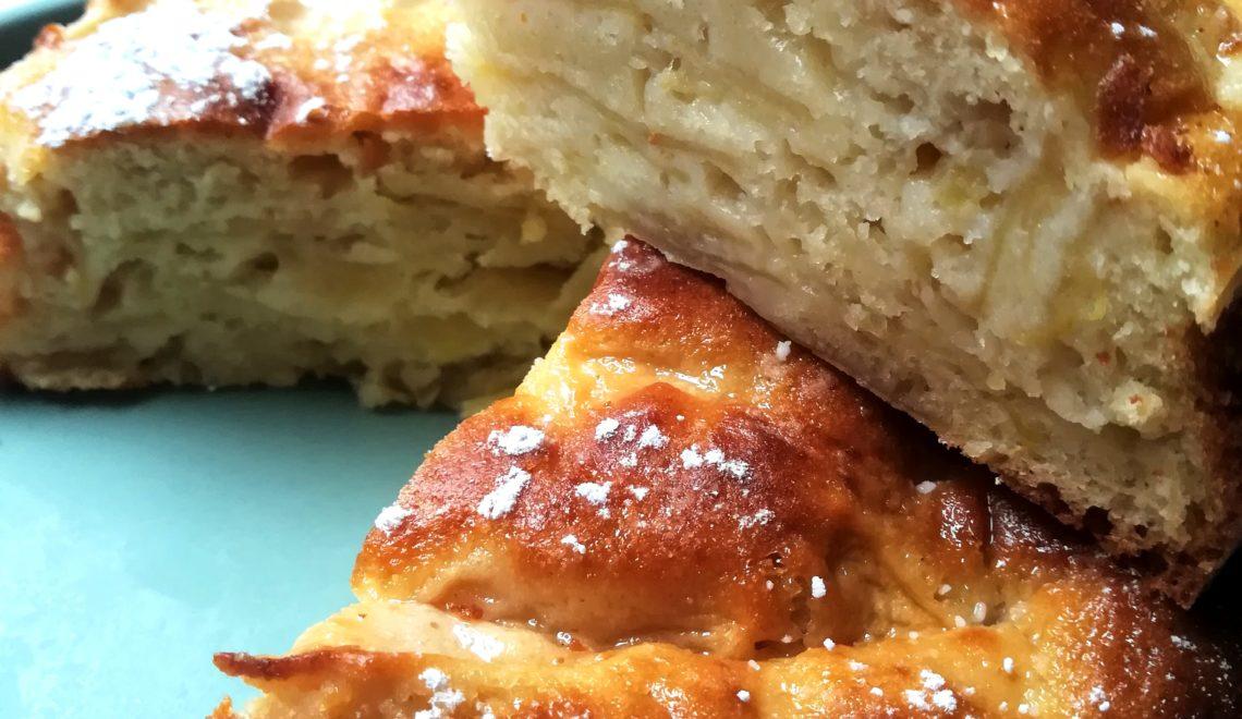 Torta di mele senza grassi allo yogurt greco senza glutine