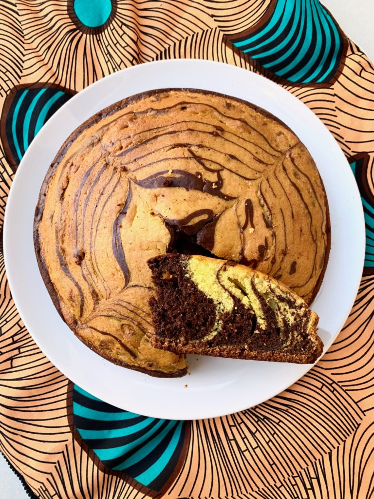Torta zebrata senza glutine e vegan