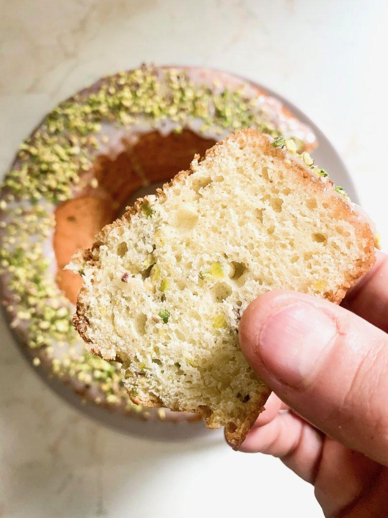 Ciambella soffice ricotta e pistacchio