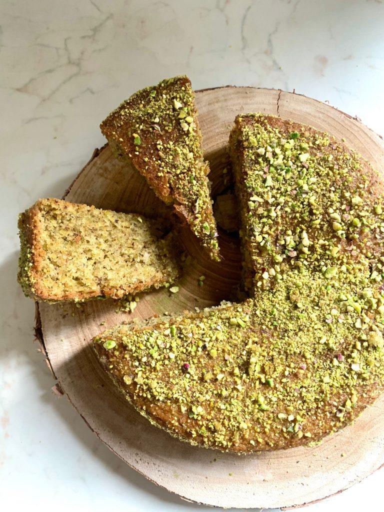 Torta al Pistacchio vegan e senza glutine