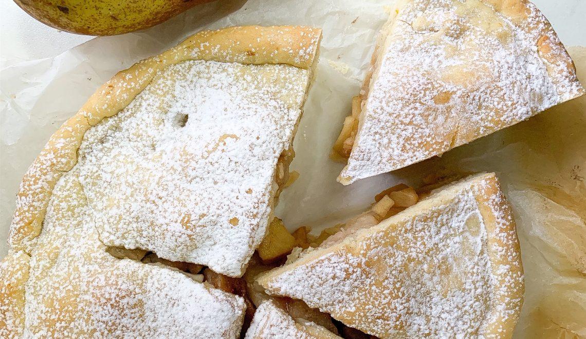 Vegan Pear Pie senza glutine