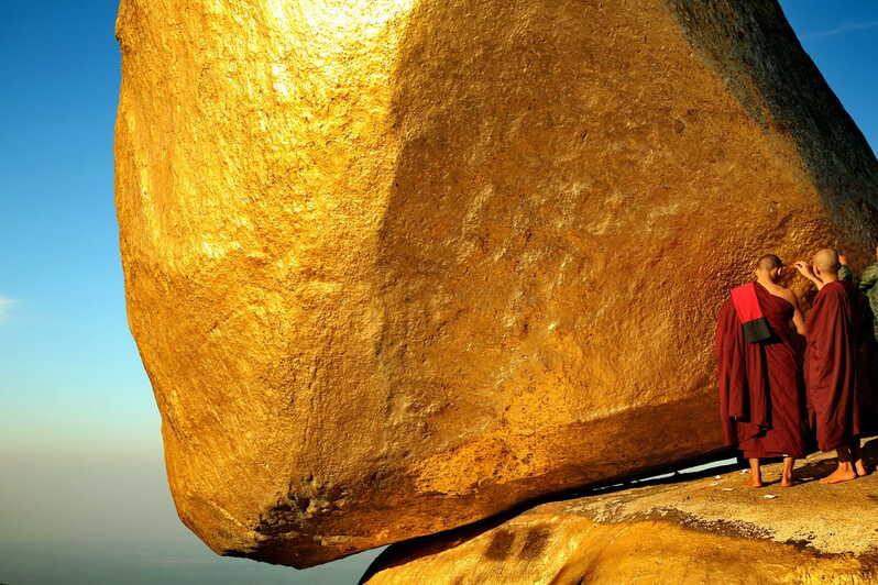 La golden rock o meglio PAGODA KYAIKTIYO