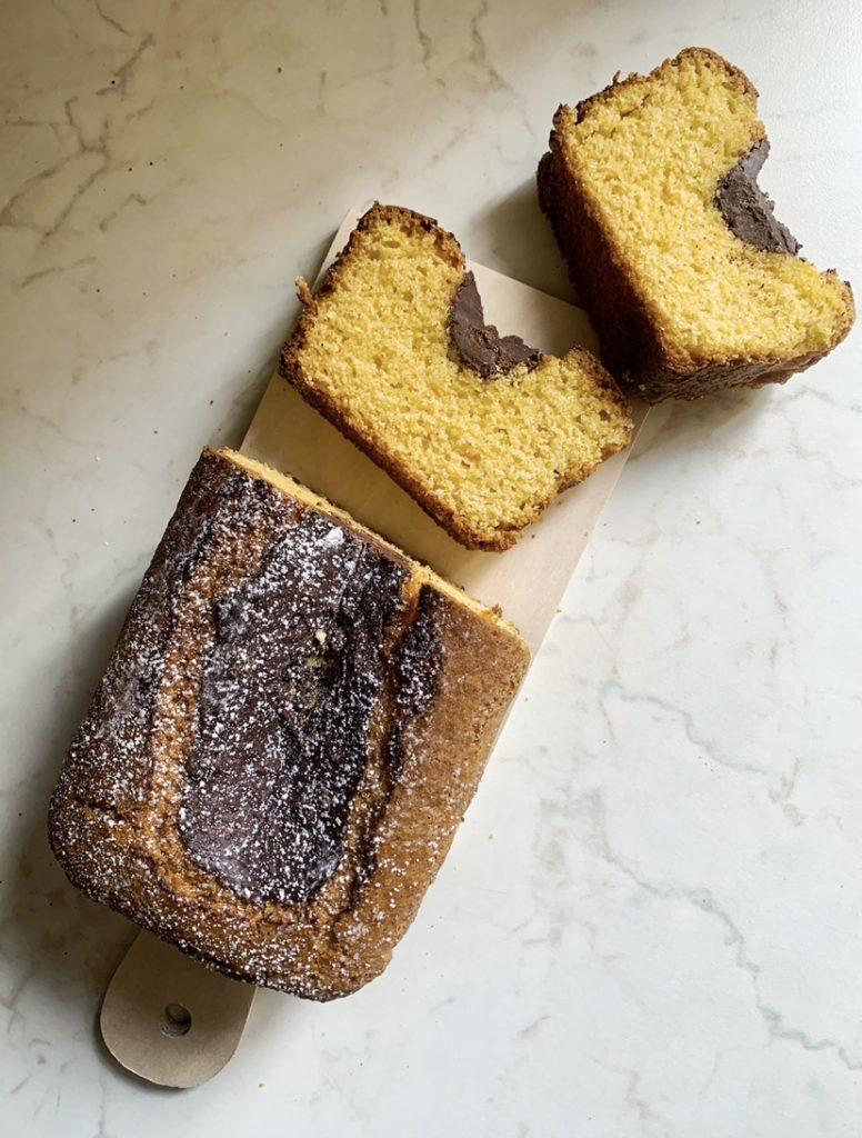 Plumcake mais e ciocolato fondente senza glutine e vegan