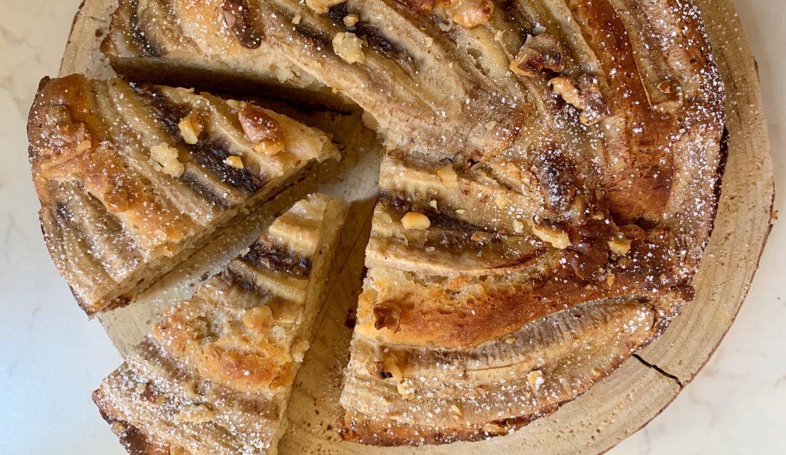 Torta Banane e noci senza glutine e vegan
