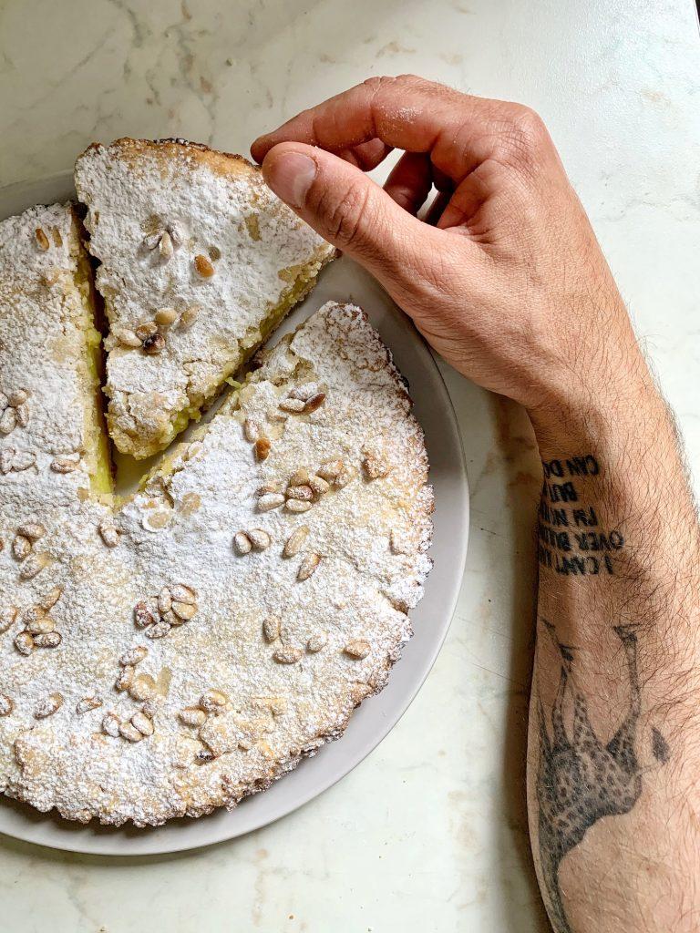 Torta della nonna vegan e senza glutine