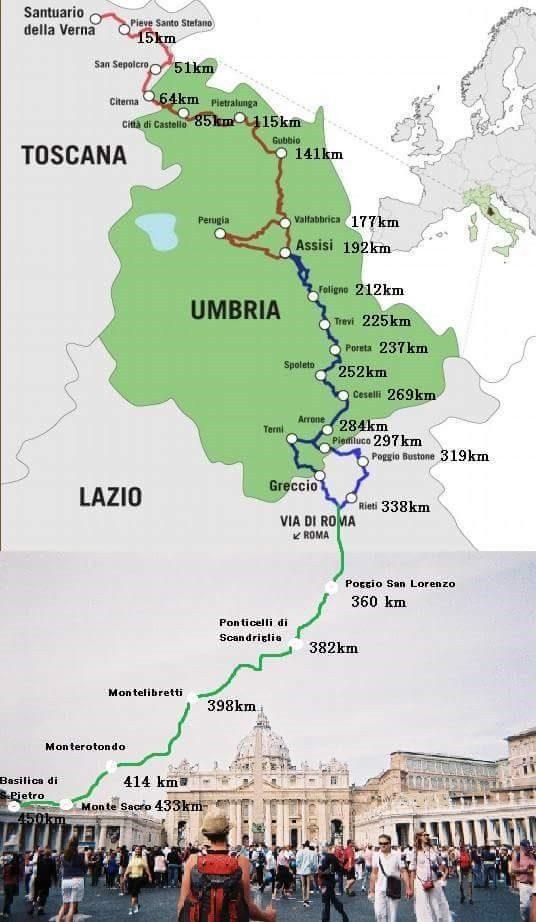 mappa de la via di francesco